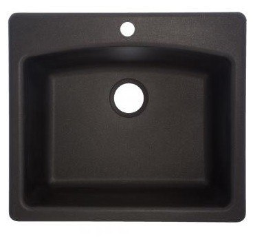 Franke Linen Finish Sinks : Franke ESOX25229-1 Ellipse 25 Inch Dual Mount Kitchen Sink in Onyx ...