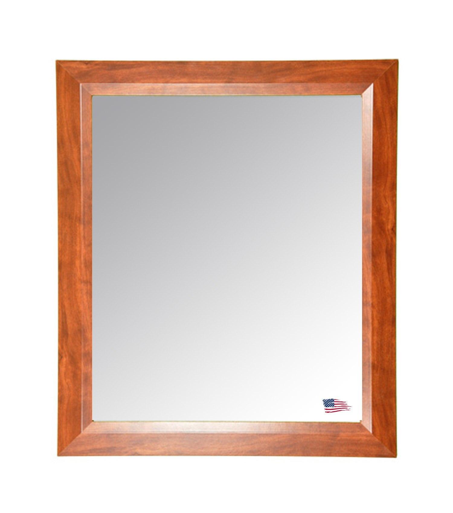 Rayne Mirrors V0016MS 26 x 32 Inch Midwest Walnut Wall Mirror