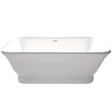 Kingston Brass VTDE713524 Aqua Eden 71 Inch Contemporary Pedestal Double Ended Acrylic Bath Tub