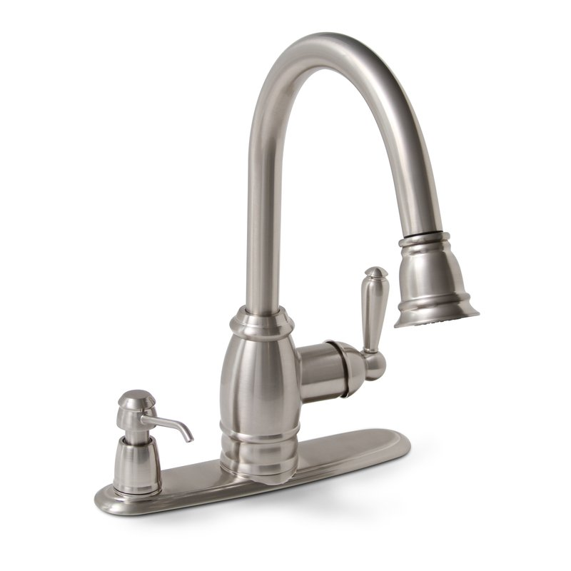Premier 120111lf single lever handle pull down kitchen for Kitchen faucet finishes