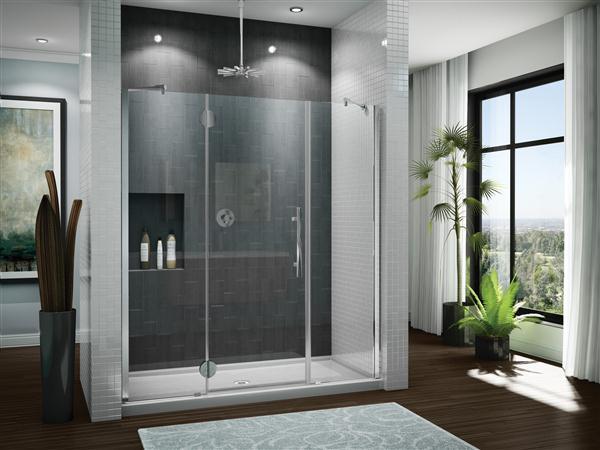 Fleurco PXTP63 Platinum 62-13/16 to 64-1/16 Inch In-Line Panel -Door - Panel - Glass to Glass Hinges