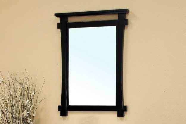 Bellaterra Home 203012 Mirror Solid Wood Frame Mirror Black