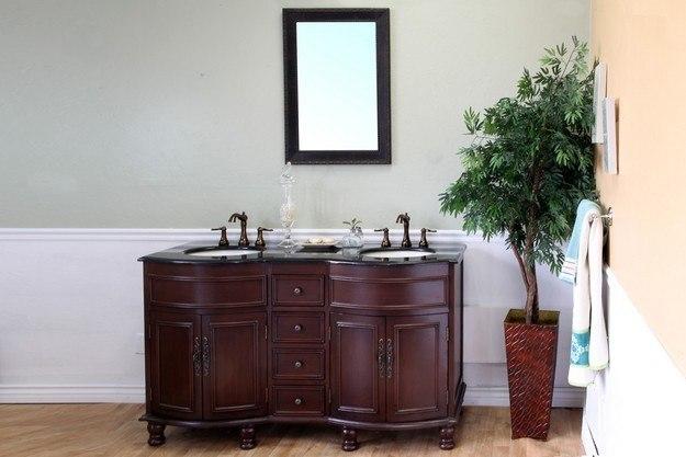 Galaxy Lighting 4 Light Barclay Bathroom Vanity: BellaTerra Home 603316-C-BG 62 Inch Double Sink Vanity