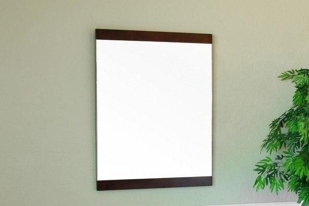 BellaTerra Home 804366-MIRROR 23.6 Inch Mirror-Walnut-Wood