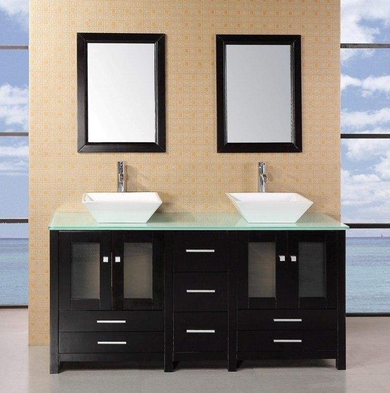 Design Element DEC072B G Arlington 61 Inch Double Sink Vanity Set In Espresso