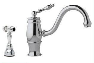 Franke FHF500 'Farm House' Series Gooseneck Cast Spout Faucet with Side Spray