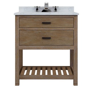 tb3021d weathered oak toby 30 inch vanity cabinet with one drawer