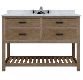 Sagehill Designs Tb4821d Weathered Oak Toby 48 Inch Vanity