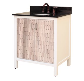 Sagehill Designs CP3021 White Cape Point 30 Inch Wood Vanity Cabinet Only with Adjustable Shelf