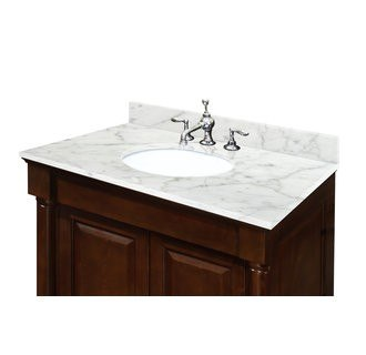 sagehill designs ow3122 cw carrara white 31 inch carrara white marble vanity top with 4 inch. Black Bedroom Furniture Sets. Home Design Ideas