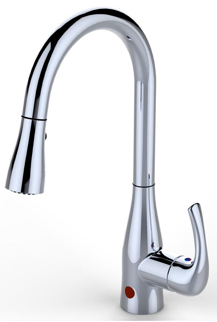 Bio Bidet Up7000 Single Handle Pullout Flow Motion Sensor Kitchen Faucet Up7000cp Up7000bn