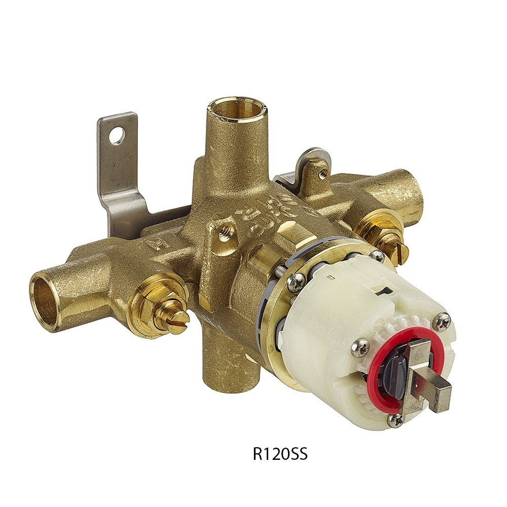 American Standard R120SS Pressure Balance Bath/Shower Volume and Temperature Control with Direct Sweat Inlets/Outlets