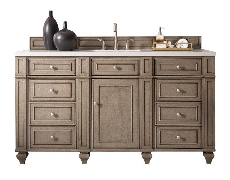 James martin 157 v60s ww bristol 60 inch single vanity - 60 inch bathroom cabinet single sink ...