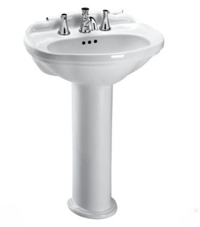 Toto Lpt754 8 Whitney 25 X 19 Inch Pedestal Lavatory With 8 Inch Faucet Centers Lpt754 8 01