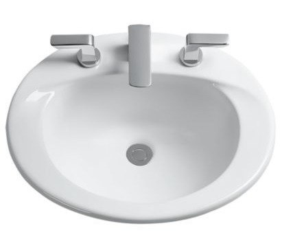 Toto LT511G Supreme 20 x 17 Inch Self-Rimming Lavatory with Single Hole with SanaGloss