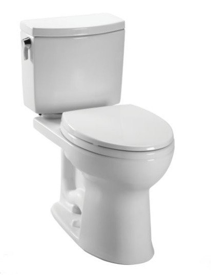 Toto CST454CUF Drake II 1 GPF Two Piece Elongated Toilet with SanaGloss Ceramic Glaze