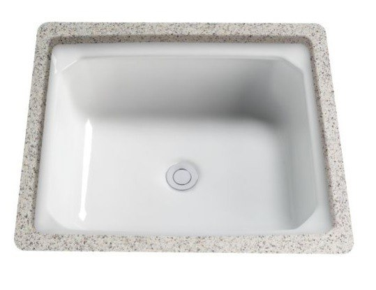 Toto lt973 51 guinevere 18 5 8 inch undermount bathroom sink with overflow lt973 51 lt97351 Toto undermount bathroom sinks