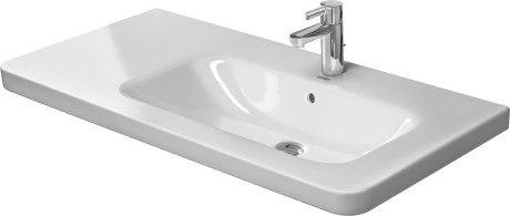 Duravit 232610 DuraStyle 39-3/8 x 18-7/8 Inch Furniture Washbasin Asymmetric