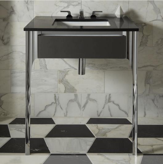 Robern Bathroom Vanities: Robern VB36H1D21TL Balletto 36 W X 7-1/2 H Inch Slim