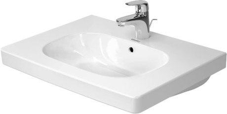 Duravit 034265 D-Code 25-5/8 x 18-7/8 Inch Deck Mounted Bathroom Sink with Overflow