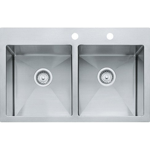 Franke Vector Sink : ... Bowl Polished Satin Kitchen Sink HF3322-2 HF33222,Franke sink