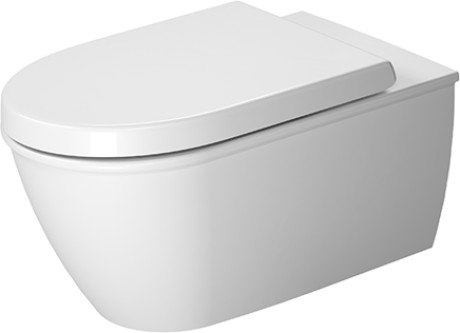 Duravit 254409 Darling New 14-5/8 x 24-3/8 Inch Toilet wall-Mounted, Washdown Model, Suitable for Sensowash Starck, Bowl Only