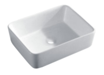 Dowell USA 000 1915B Topmount 18 Inch Ceramic Bathroom Sink