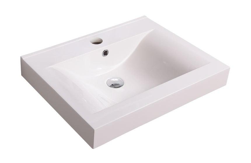 Dowell Sinks : Dowell USA 000 2418BP Topmount 23 Inch PolyMarble Bathroom Sink 000 ...
