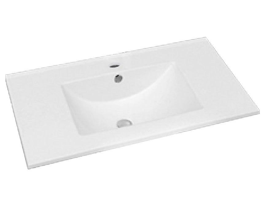 Dowell Sinks : Dowell USA 000 3618B Topmount 35 Inch Ceramic Bathroom Sink 000 3618B ...
