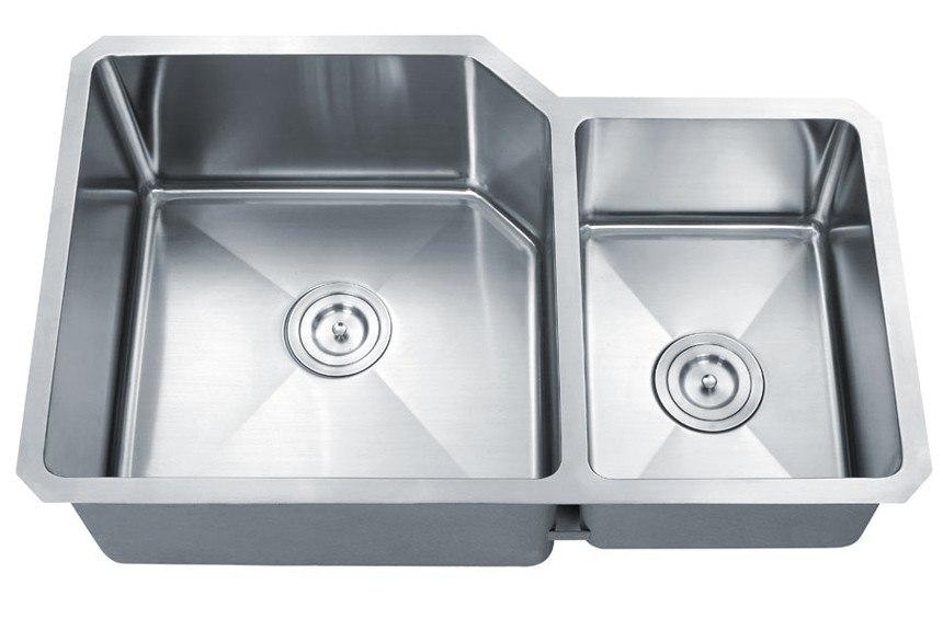 Dowell USA 6008 3220D Handcrafted Small-Radius Corner Series 32 Inch Undermount Kitchen Sink