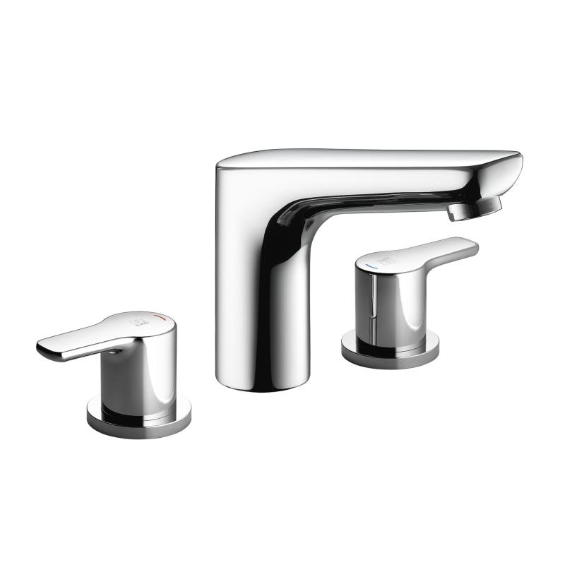 Kwc Piana Widespread Three Hole Lavatory Faucet With Fixed Spout 12