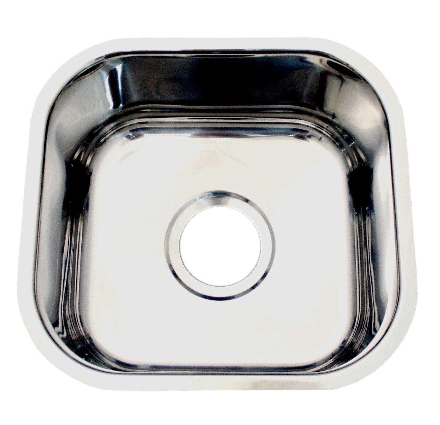WHNU1212-BSS 12 7/8 Inch Noahs Collection Single Bowl Undermount Sink ...