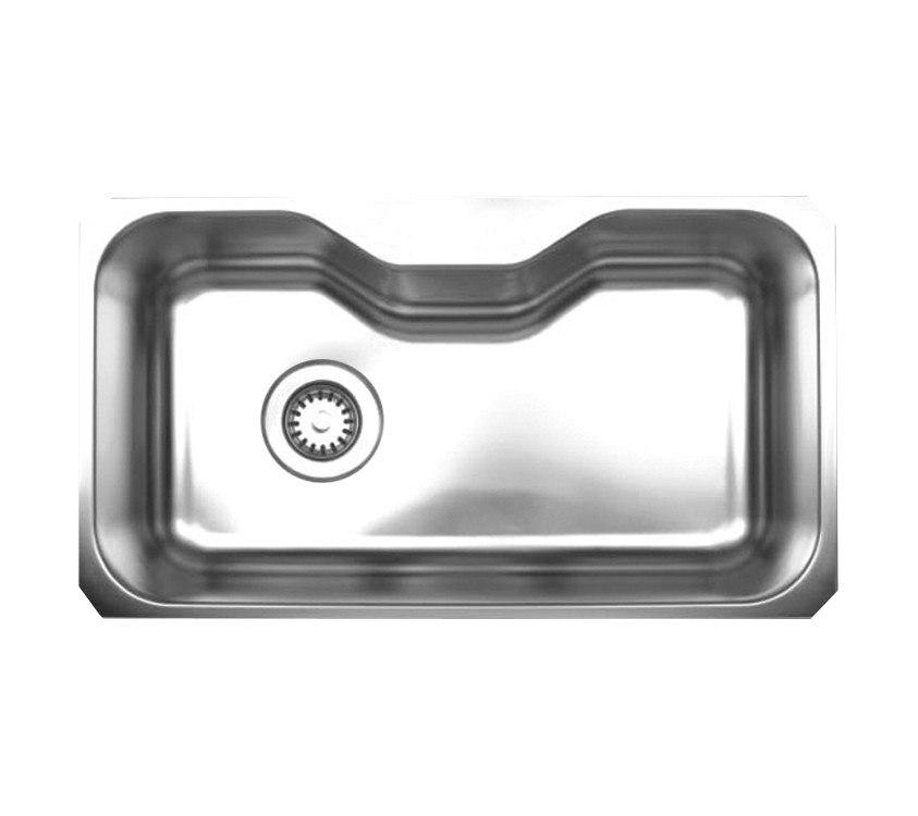WhiteHaus WHNUA3016 32 1/2 Inch Noah's Collection Single Bowl Undermount Sink