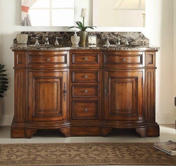 chans furniture 33130b 60 kleinburg 60 inch chestnut bathroom double