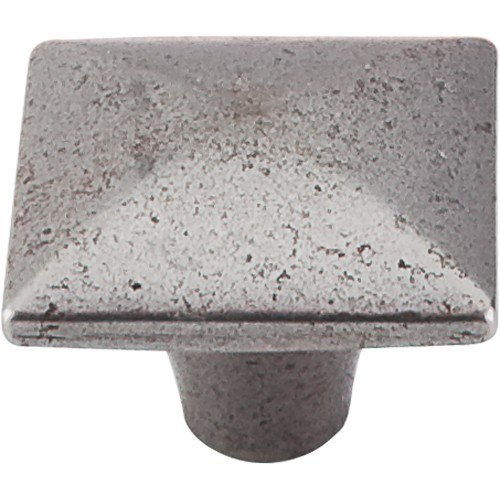 Top Knobs M263 CI Chateau II Square Iron Knob Smooth 1-3/8 Inch Cast Iron