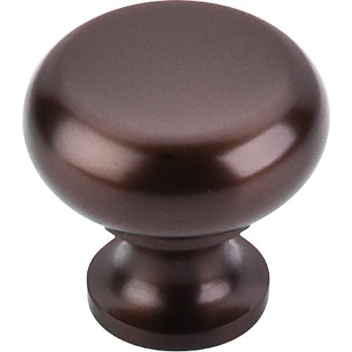 Top Knobs M754 ORB Oil Rubbed Flat Faced Knob 1-1/4 Inch Oil Rubbed Bronze