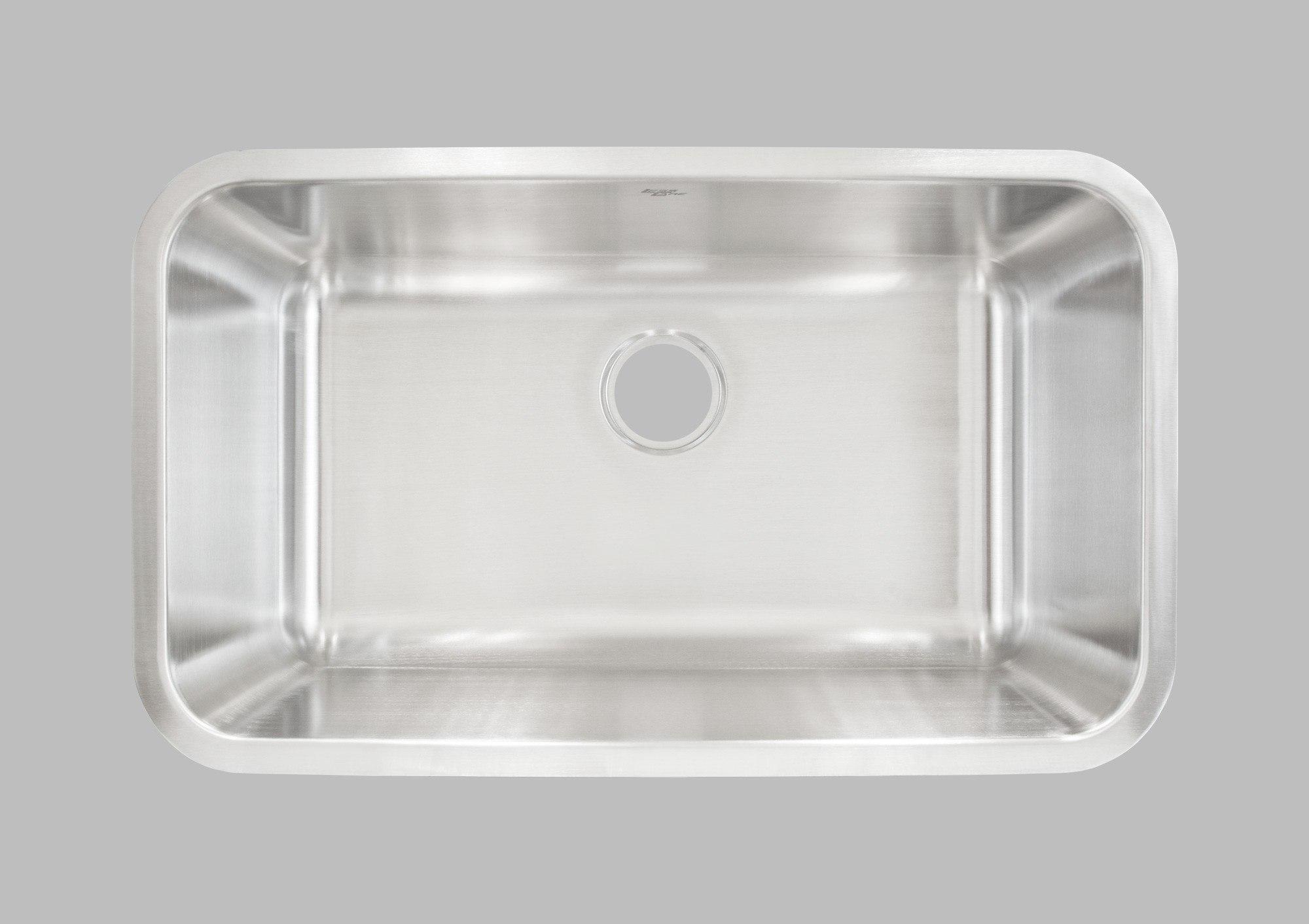 Less Care L107 30 Inch Undermount Single Bowl Kitchen Sink