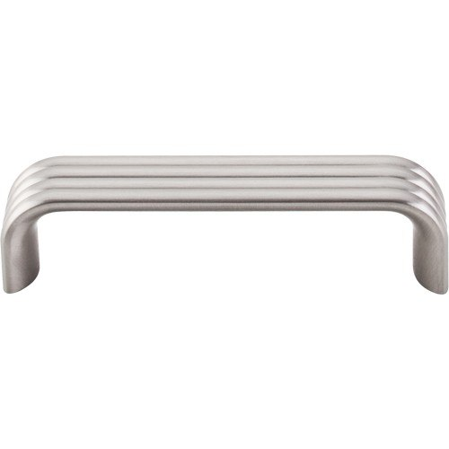 Top Knobs TK262BSN Sanctuary II Modern Deco Pull 3-3/4 Inch Center to Center Brushed Satin Nickel