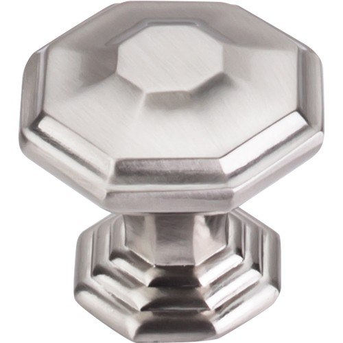Top Knobs TK348BSN Chareau Chalet Knob 1-1/2 Inch Brushed Satin Nickel
