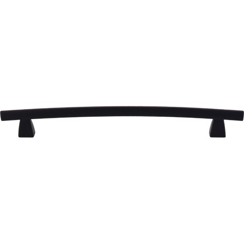 Top Knobs TK5BLK Sanctuary Arched Pull 8 Inch Center to Center Flat Black