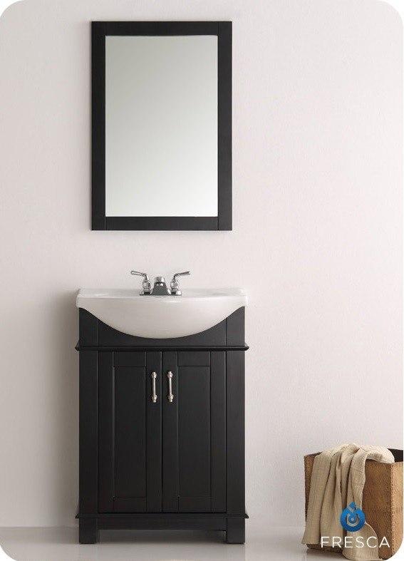 Fresca Fvn2302bl Cmb Hartford 24 Inch Black Traditional Bathroom Vanity Fvn2302bl Cmb