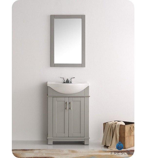 Fresca Fvn2302gr Cmb Hartford 24 Inch Gray Traditional Bathroom Vanity Fvn2302gr Cmb