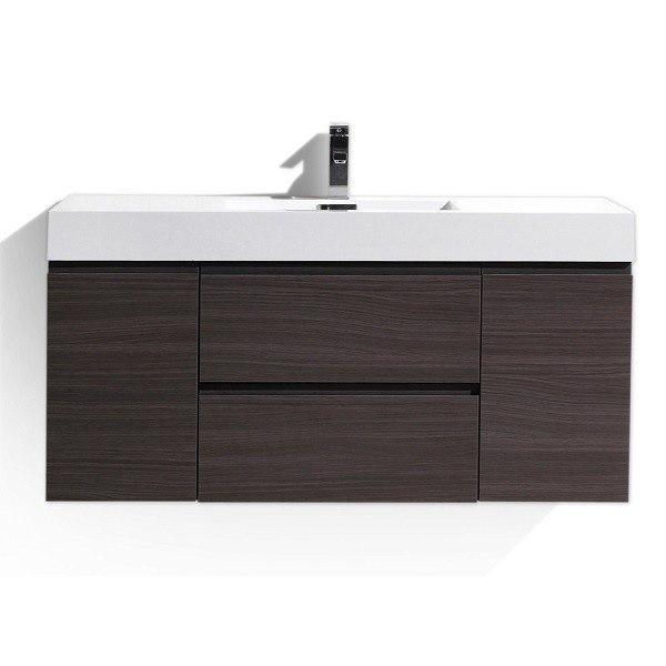 Moreno Bath Mof48 Wb Mof 48 Inch Dark Grey Oak Wall Mounted Modern Bathroom Vanity With