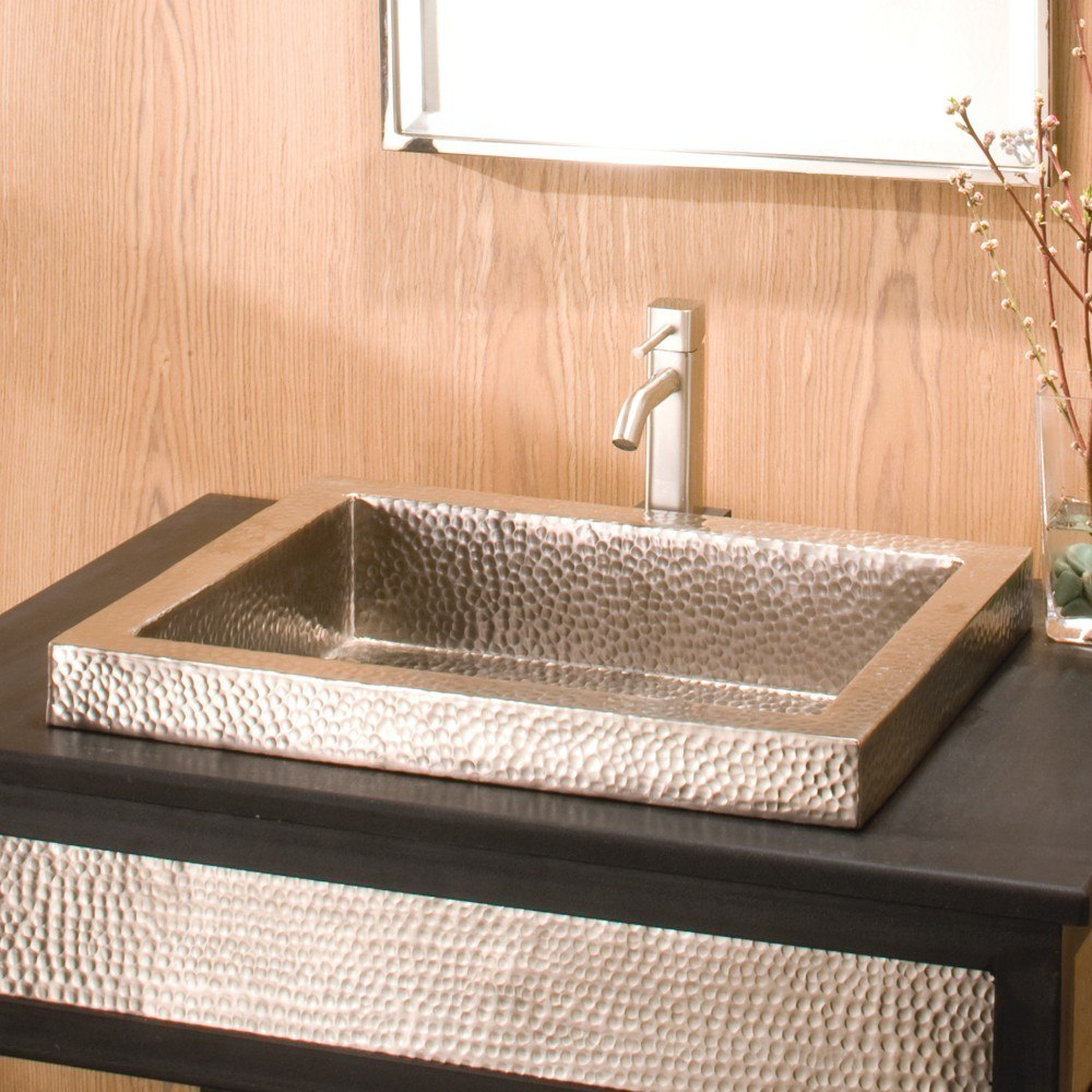Native Trails CPS46 Tatra 20 Inch Hand Hammered Drop-In Rectangular Copper Sink