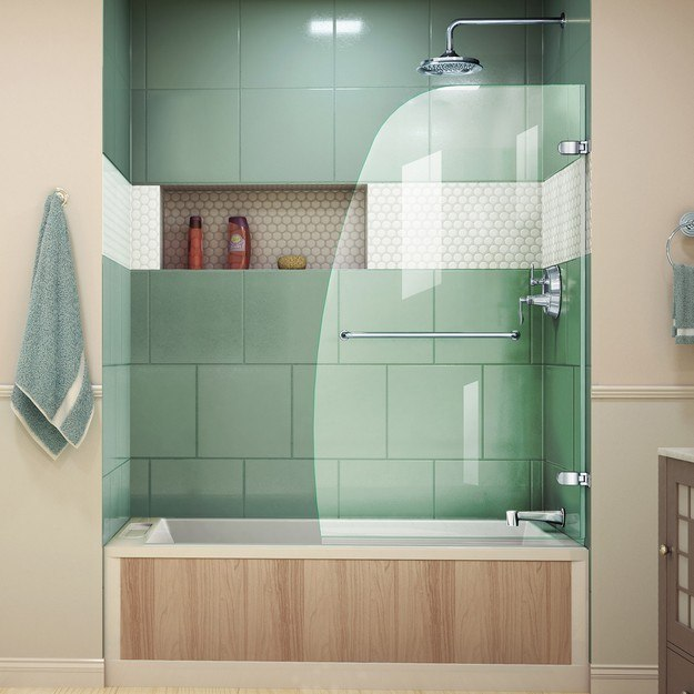 DreamLine SHDR-3534586 Aqua Uno 34 Inch Frameless Hinged Tub Door