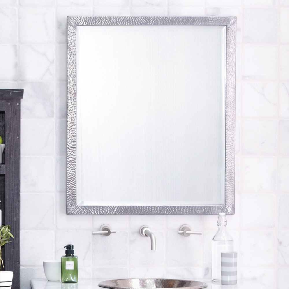 Native Trails MR527 Divinity 27 x 32 Inch Rectangle Mirror to Coordinate with Brushed Nickel Bathroom Sinks