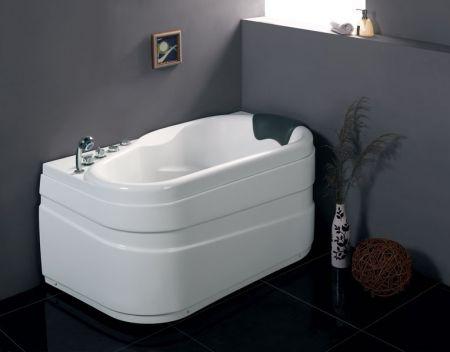 eago am175 l 5 39 foot white acrylic corner whirpool bathtub drain