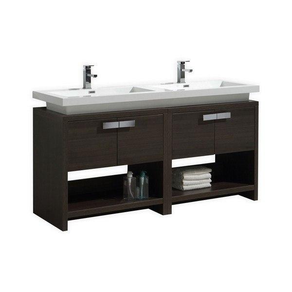 Kubebath L1600go Levi 63 Inch Gray Oak Modern Bathroom