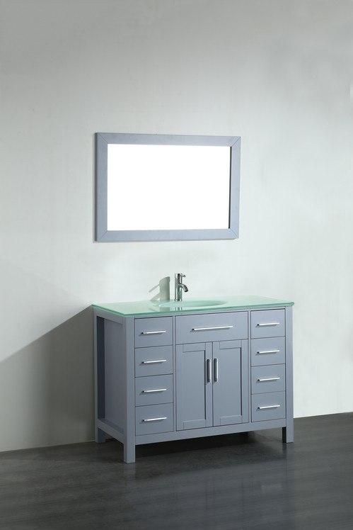 Bosconi Sb  Inch Contemporary Single Vanity In Grey Sb