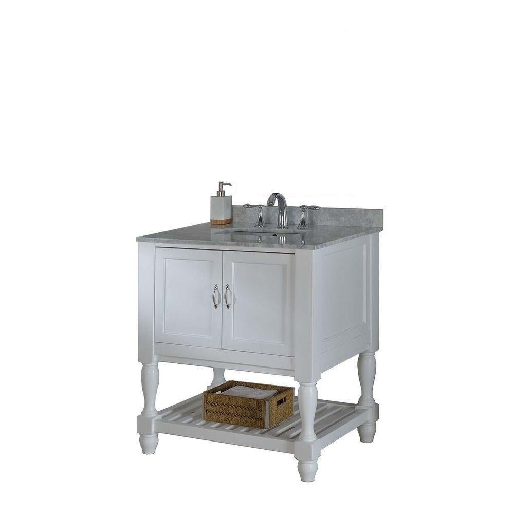 Direct Vanity Sink 32S10-Wwc Mission Turnleg Spa 32 Inch ...